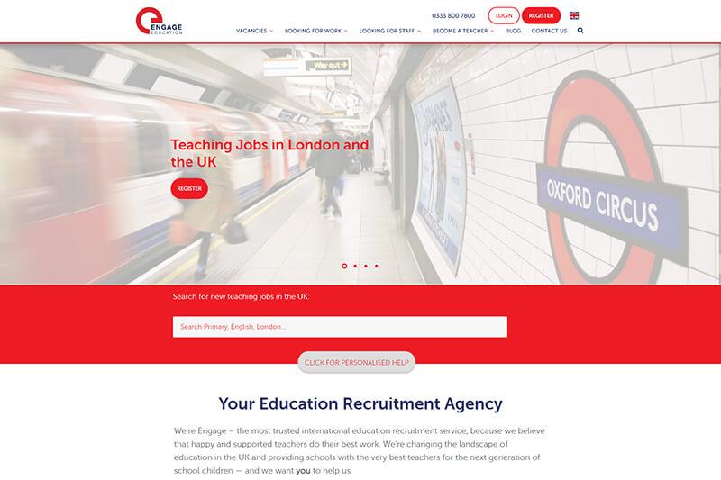 Engage Partners teaching recruitment London